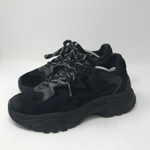ASH Black Addict Sneakers Chunky Sole 40